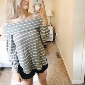 Tops - Stripped Off the shoulder top